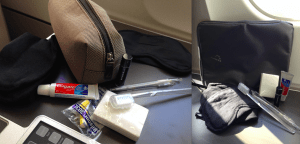 A Tale of Two Amenity Kits: A standard Dop Kit, and a padded Tablet Case