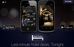 Hotel Tonight app.