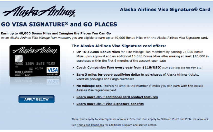 The Alaska 40k offer is for airline elites, but applications are open to others as well.