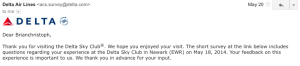 Delta SkyClub Survey