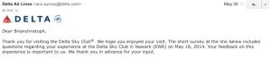 Delta SkyClub Survey