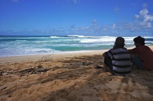 Sunset Beach, on the North Shore of the Hawaiian island of O'ahu