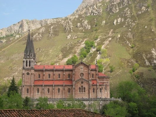 The monastery at Covadonga