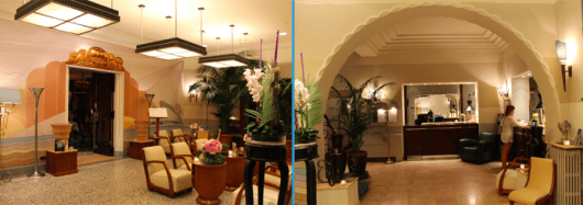 Lobby and Reception at the Hotel Belle Rives
