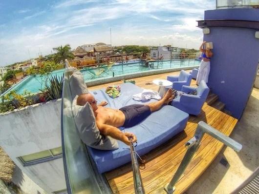 Rooftop relaxation in Playa del Carmen