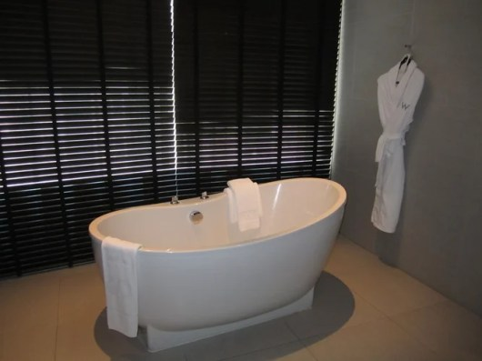 My favorite, the freestanding tub