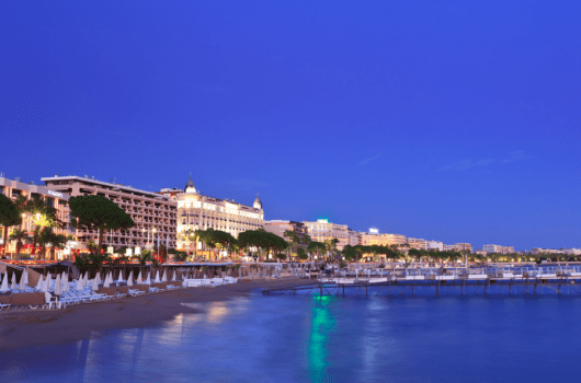 The gorgeous Croisette in Cannes...image courtesy of Shutterstock