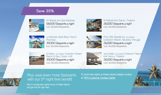 "Starwood's ""Paradise is Closer"" Resort promotion has been extended to March 3, 2015."
