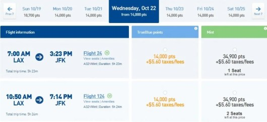 jetblue fare amex promo