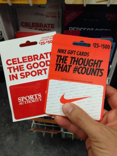 You may be able to find sports-related gift cards at your local pharmacy or supermarket.