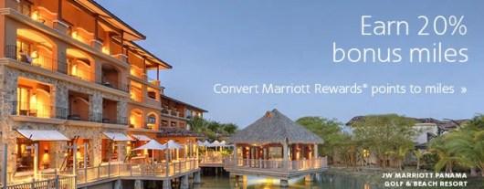 Earn a 20% Bonus when you convert your Marriott points to AAdvantage miles.