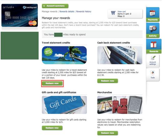 Barclaycard Redeem Now