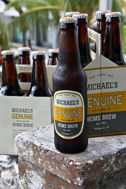 Michael's Genuine Home Brew is a collaboration between the chef and Back Forty Brewing Co.