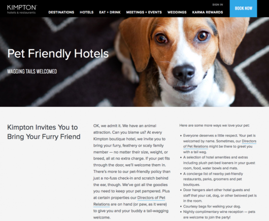 Kimpton is an industry leader in providing truly pet-friendly lodging.