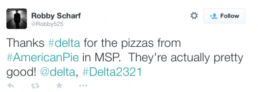 Passengers shared what Delta was doing via Twitter.
