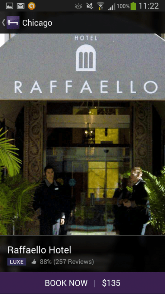 The Raffaello for slightly cheaper on Hotel Tonight