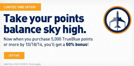 Get a 50% bonus on TrueBlue purchased points.