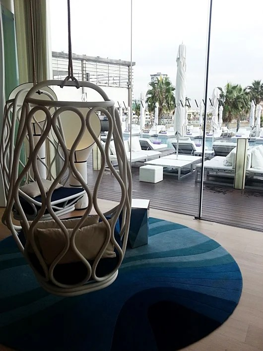 A lounge area in the Wave Restaurant