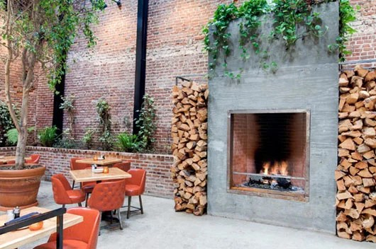 The inviting outdoor space at Mohawk Bend