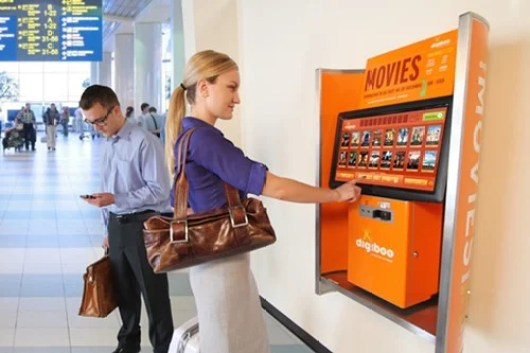 There are 11 Digiboo movie-download kiosks throughout Minneapolis' MSP