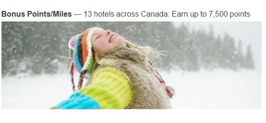 Earn bonus points on Canada Marriott stays