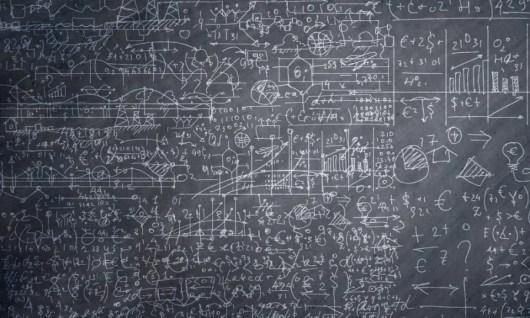 Complex chalkboard equations revenue requirements