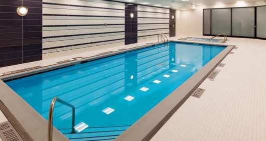 The Hilton Athletic Club at the O'Hare Hilton has an indoor lap pool