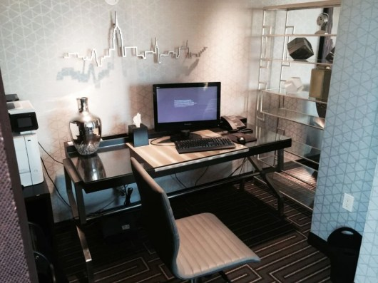 Little office area in the Club lounge