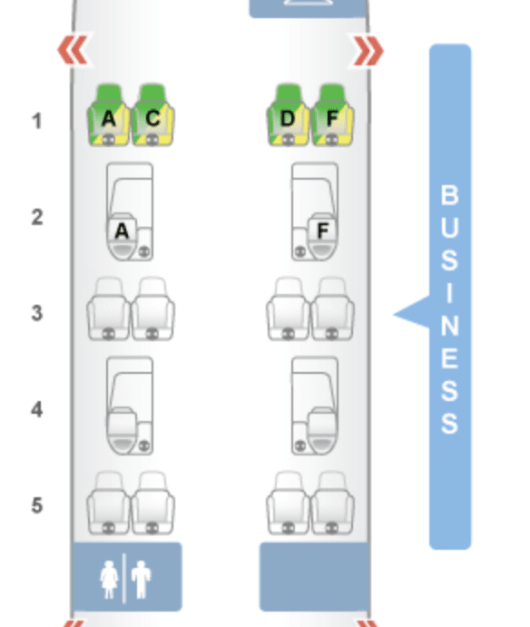 JetBlue Mint seat map courtesy of seatguru.com