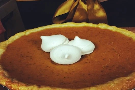 The pumpkin pie at Edge.
