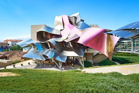 The Frank Gehry designed Marques de Riscal hotel