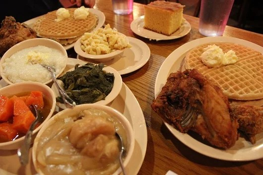 The spread at Roscoe's in Hollywood.