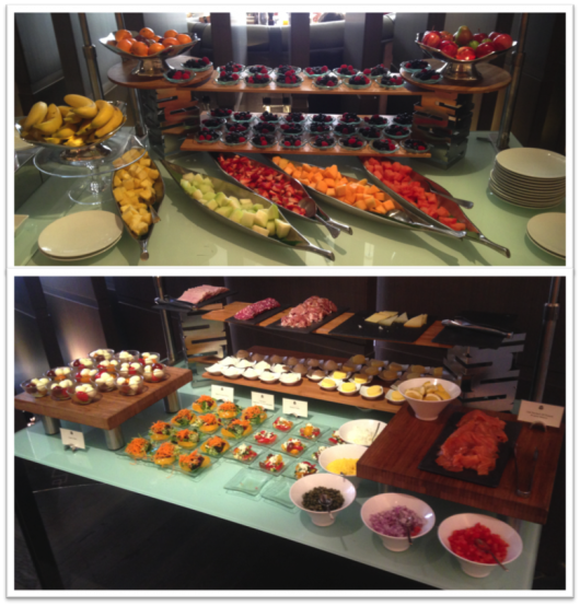 The breakfast spread at the St. Regis Bal Harbour was varied and plentiful.