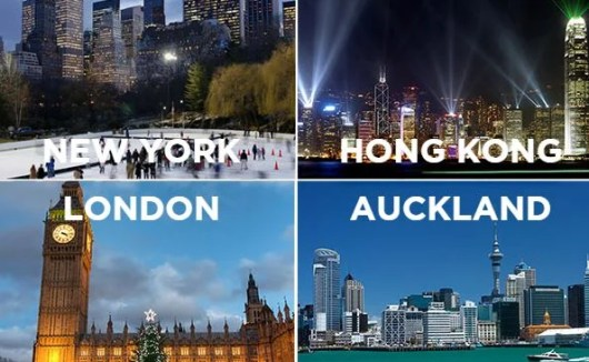 Win a dream trip to four special cities: New York, London, Hong Kong and Auckland