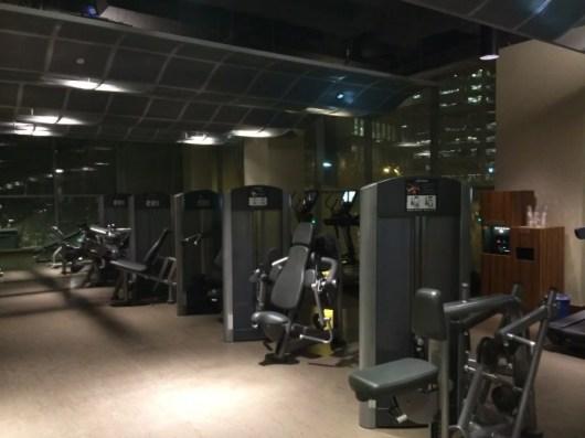 Spacious gym area