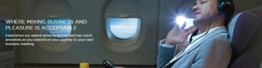 I'll be chilling in business class, just like this guy. Not a worry in the world!