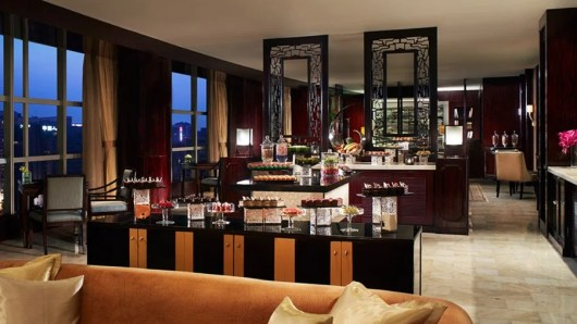 Both Ritz-Carlton properties in Beijing (the Financial District location's club lounge is pictured) are Tier 1 properties.