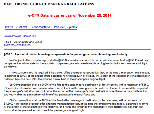 If you are denied boarding involuntarily, you have the right to appropriate compensation.