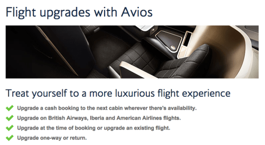 You can also use Avios to upgrade paid tickets (though going from Economy to Premium Economy usually isn't worth it).