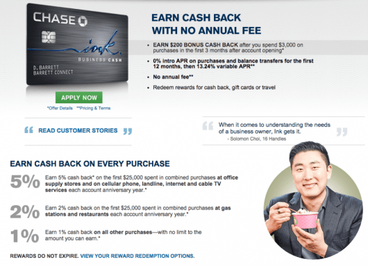 The Ink Cash offers cash back, but you also have the potential to convert those rewards to more valuable Ultimate Rewards points.