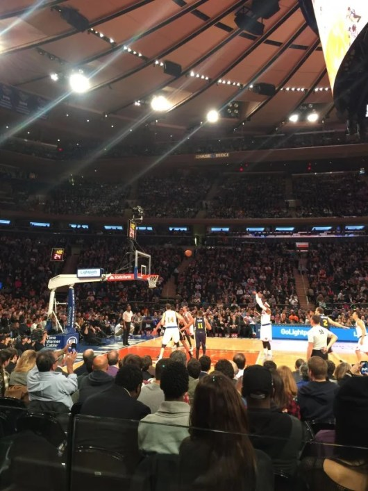 Our view from row 1 at Madison Square Garden's Center Court were phenomenal