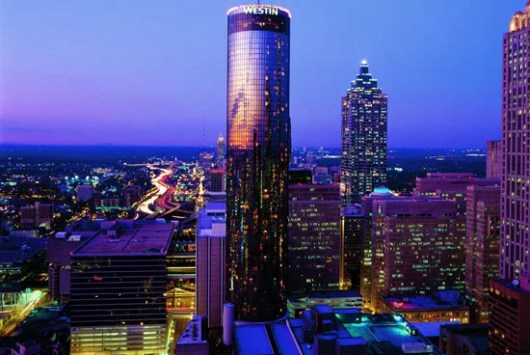 The iconic Westin Peachtree Plaza tower