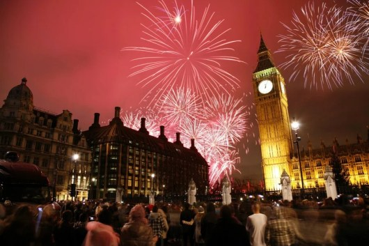 If you're in London for New Year's Eve you can catch the annual fireworks show at Big Ben