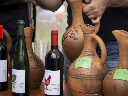 Georgia still makes wine in traditional clay pots. Photo courtesy of Shutterstock.