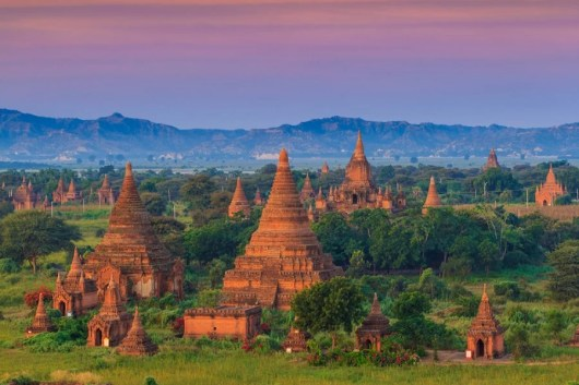 The ancient temples of Bagan, Myanmar. Photo courtesy of Shutterstock.