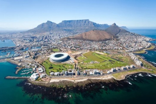 Aerial view of Cape Town, South Africa. Photo courtesy of Shutterstock.