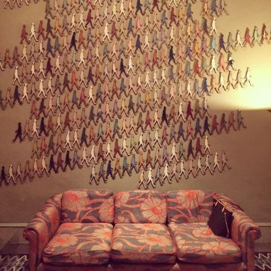 Wall installation by Cuban artist Damian Aquiles
