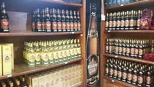 The rum and cigar shop