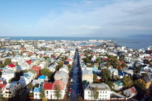 Downtown Reykjavik from above