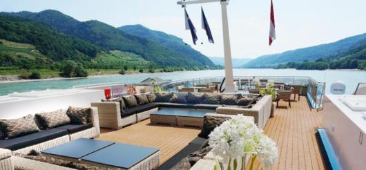 The pool deck of AmaWaterways' AmaSerena